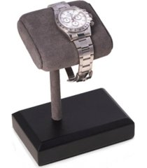 bey-berk single watch display stand with suede cushion