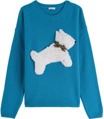 il gufo wool sweatshirt with front patch