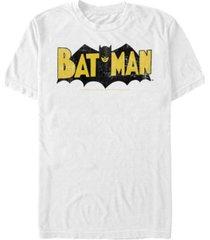 fifth sun dc men's batman retro bat logo short sleeve t-shirt