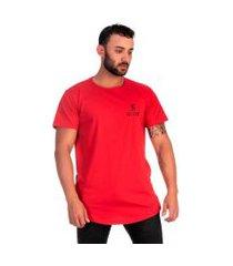 camiseta swag long ideal para o dia a dia selten vermelho