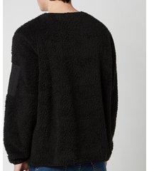 polo ralph lauren men's curly sherpa sweatshirt - polo black - xl