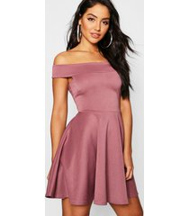 off the shoulder skater dress, mauve