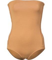 eres polarize strapless swimsuit - brown