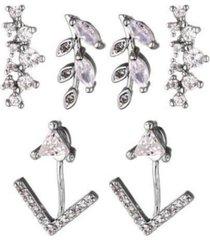 nicole miller cubic zirconia earring trio