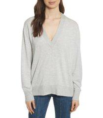 women's rag & bone flora sweatshirt, size x-large - grey