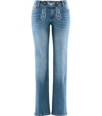 jeans bavaresi a gamba dritta con ricamo (blu) - bpc bonprix collection