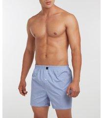 boxer amplio para hombre estampado cuadros algodón azul l