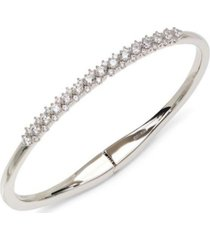 eliot danori silver-tone cubic zirconia lace bangle bracelet, created for macy's