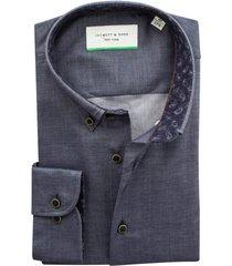 jackett & sons hemd grijsblauw melange