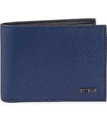 double leather billfold & id window wallet