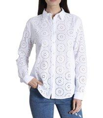 blusa mujer acacia algodón orgánico blanco rockford