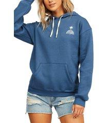 women's billabong under the sun hoodie, size x-small - blue