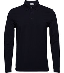 m. luke lycra polo shirt polos long-sleeved blå filippa k