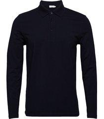 m. luke lycra polo shirt polos long-sleeved blå filippa k