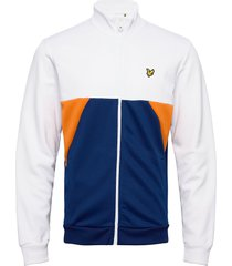 geo panel zip through sweat-shirt trui wit lyle & scott
