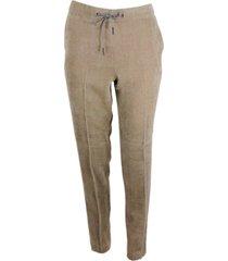 fabiana filippi soft corduroy trousers with drawstring and elastic waistband