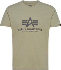 basic t-shirt t-shirts short-sleeved grön alpha industries