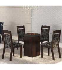 mesa de jantar 4 lugares break ameixa/cobre - mobilarte móveis