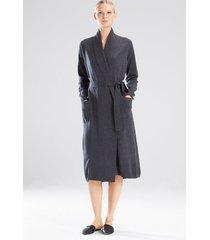 silk/cashmere sleep & lounge bath wrap robe, women's, size m, josie natori