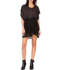 iro women's huge ruffle mini skirt - black - size 38 (6)