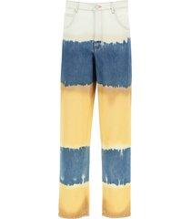 alberta ferretti tie-dye i love summer trousers