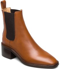 all day all night shoes boots ankle boots ankle boot - heel brun anny nord