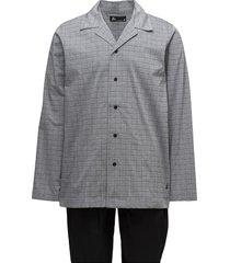 jbs, pajama button down pyjamas svart jbs
