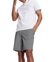 ax armani exchange men's micro-logo tiles twill shorts