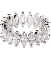 anel aliança navetes the ring boutique pedras de zircônias ródio ouro branco