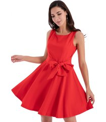 vestido clásico lazo rojo nicopoly