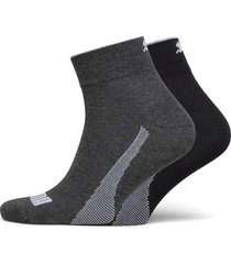 puma quarter 2p unisex promo underwear socks regular socks grå puma