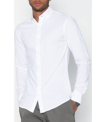 only & sons onscaiden ls solid linen shirt noos skjortor vit