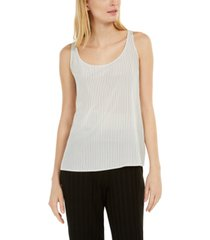 eileen fisher silk striped tank top