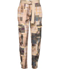 skunk polyester 19-04 pantalon met rechte pijpen multi/patroon holzweiler