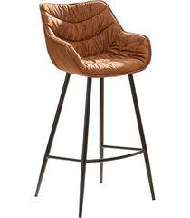 krzesło barowe dutch brązowe mikrofibra 104cm