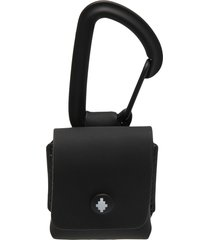 marcelo burlon county of milan cross foldover-top airpods case - black