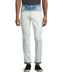 buffalo david bitton men's ash-x dip-dyed slim stretch jeans - indigo - size 30 32