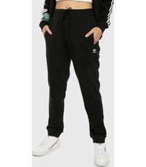 pantalón negro-blanco adidas originals