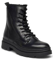 woms boots shoes boots ankle boots ankle boot - flat svart tamaris
