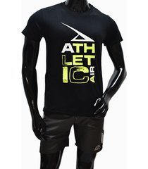 ***camiseta tshirt-negro-verde neon athletic air m