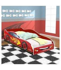 cama carro super turbo 85 solteiro - vermelho - rpm móveis