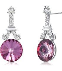 orecchini in argento sterling 925 con zirconi brillanti orecchini pendenti in argento 925 per donna