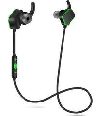 audífonos bluetooth inalámbricos magnéticos manos libres -verde negro