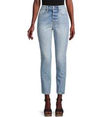 frame women's le original twist ankle skinny jeans - acai - size 28 (4-6)