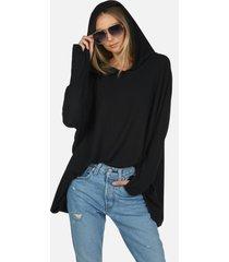 dash core oversized hoodie - black m/l