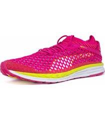 zapatos speed ignite netfit rosa-amarillo-blanco 189938-06