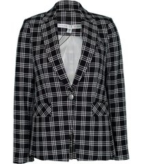 black and white lyda dickey jacket