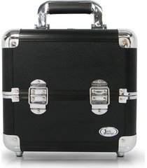maleta de maquiagem alumãnio pequena jacki design beauty preta - preto - feminino - dafiti