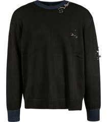 n.21 jewelry embellished sweatshirt
