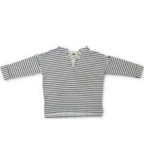 style & co striped lace-up hoodie, created for macy's